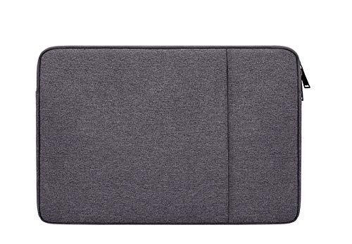 DOT. 13 - 13.3 Inch Laptop Sleeve Case Water-Resistant Neoprene Notebook Computer Pocket Tablet Briefcase Carrying Bag/Pouch Skin Cover for Acer/Asus/Dell/Lenovo/HP & More (13' - 13.3', Charcoal Grey)