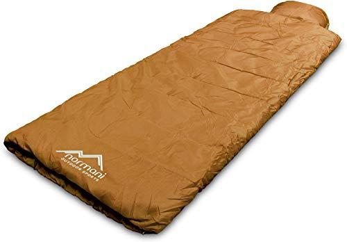 normani Einzel Schlafsack Pilotenschlafsack mit integriertem Kopfkissen Farbe Pilot/Coyote