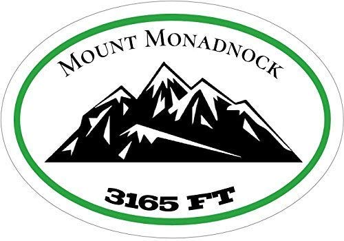 Mt Monadnock Decal - Elevation of 3165ft Mount Monadnock Vinyl Sticker - Mountain Bumper Sticker - New Hampshire Decal - Hiking Decal - Mount Monadnock Gift - Made in the USA Size: 4.7 x 3.3 inch