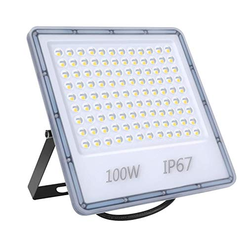100W LED Foco Exterior, Luces de seguridad Led Proyector Foco 6500K Blanco Frio IP67 Impermeable Exterior Iluminación para Jardín Patio [Clase de Eficiencia Energética A+]