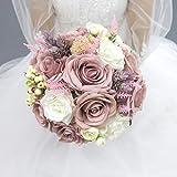 Abbie Home Bridal Wedding Bouquet - 9 inches...
