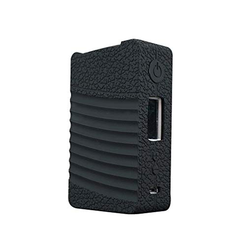 DSC-Mart Texture Silicone Case for GEEKVAPE NOVA 200W TC, Anti-Slip Cover Sleeve Wrap Skin Decal Fits Geekvape Nova (Black)
