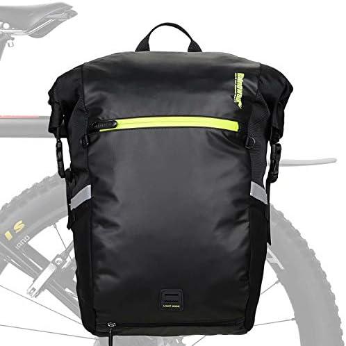 Rhinowalk Multifunction 24L Bike Pannier Bag Waterproof Bicycle Rear Seat Bag Laptop Backpack product image