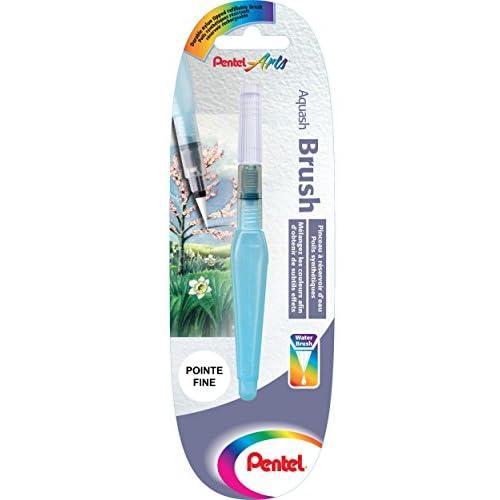 Pentel XFRH Aquash Water Brush pennello con serbatoio riempibile, punta fine