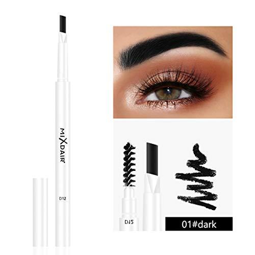 Augenbrauenstift mit Pinsel, Feytuo Wasserdicht schweißfest Nicht entfärbendes Make-up