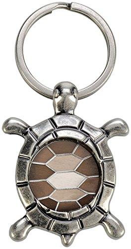 """Schlüsselanhänger mit Einkaufswagenchip """"Schildkröte"""", silber"""