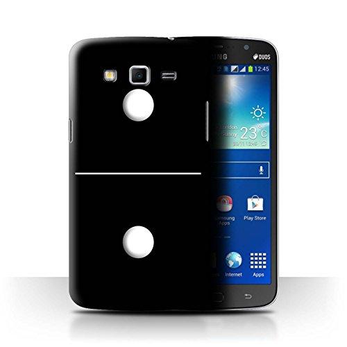 Var voor SGMN-CC Domino's/Dominos Samsung Galaxy Mega 5.8 Zwart Tegel 1/1