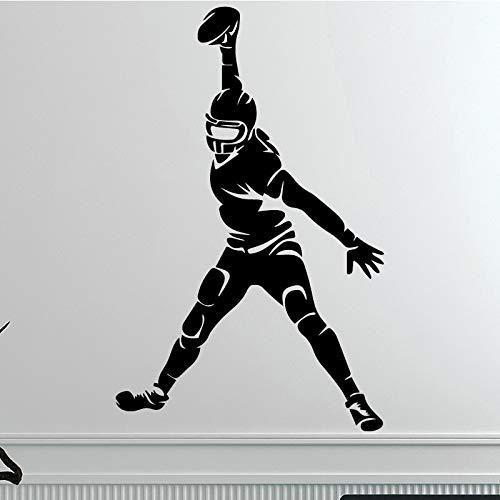 wZUN 2pcs Kreativer Fußball-Wandaufkleber Wasserdichter Vinyl-Kunstaufkleber 30X47cm
