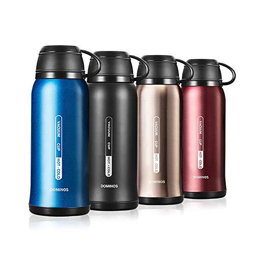 Y·J&H Vakuum Isolierte Edelstahl Trinkflasche, Wasserflasche Doppelwandig BPA Frei, Mit Tasse, Geeignet für heiße Kaffee und Tee, Ideale Thermosflasche für Outdoor, Camping - 650ml Blau