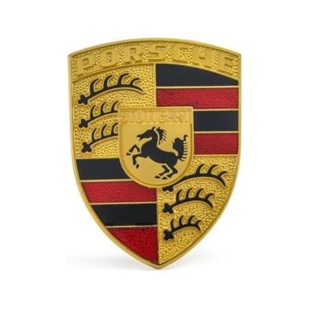 Genuine Porsche 944 Emblem Black Rear Trunk Panel Badge OEM 94455919300 83-89