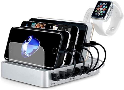 ZHICHUAN Stry Stry 6-Port Usb Multi-Power Stand Fit para la Estación de Carga Vertical de la Cabeza de Carga para la Tableta Del Teléfono Móvil Carga directa inalámbrica