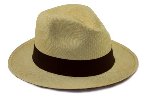 Tumi Latin American Crafts Panama Hat - Rollable - Natural with Brown Ribbon - 59cm