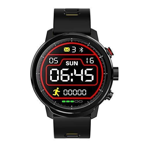 MNBVC Reloj Digital, rastreador de Ejercicios IP68, rastreador de Actividad a Prueba de Agua, Pantalla táctil LED con frecuencia cardíaca, presión Arterial, Monitor de sueño, Contador de