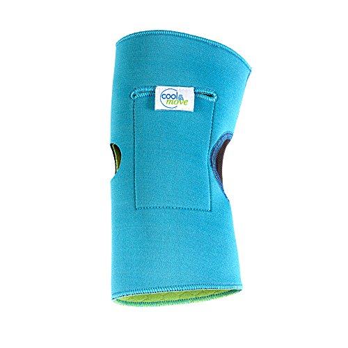 cool&move Knie Bandage S, inkl. Kalt- / Warm-Kompressen, bei Sportverletzung und Gelenkschmerz