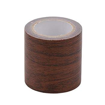 Yuxiale 5M/Roll Realistic Woodgrain Repair Adhensive Duct Tape 8 Colors for Furniture