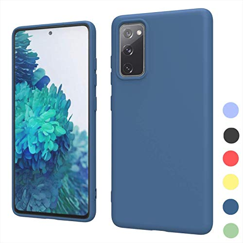NEINEI Funda para Samsung Galaxy A22 5G,Carcasa Anti-arañazos Gel de Sílice Líquido Sedoso Caso,[Ultra-Delgado] [Protección de Cámara],TPU Shockproof Case Cover,Azul