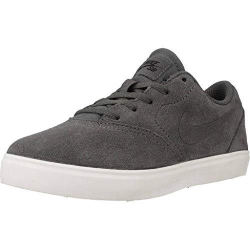 Nike Jungen Sb Check Suede (ps) Skateboardschuhe, Mehrfarbig (Dark Grey/Dark Grey/Black/Summit White 002), 33 EU