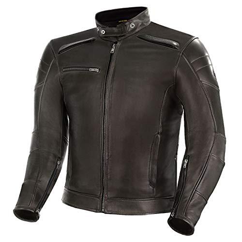 SHIMA BLAKE JACKET BROWN, Klassische Vintage Motorrad Herrenjacke mit Protektoren (Braun, L)