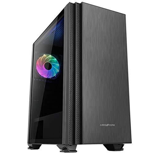 ABKONCORE Cronos 750 Midi Tower Gaming Box, RGB Beleuchtung, Glasfenster