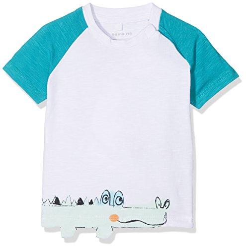 Name It Nbmdetus SS Top T-Shirt, Blanc (Bright White), 80 Bébé garçon