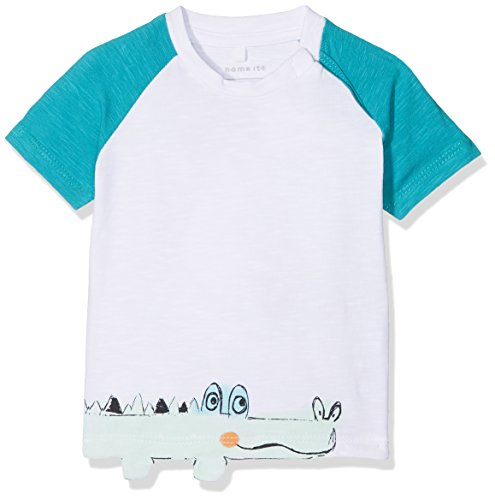 Name It Nbmdetus SS Top T- T-Shirt, Blanc (Bright White), 74 Bébé garçon