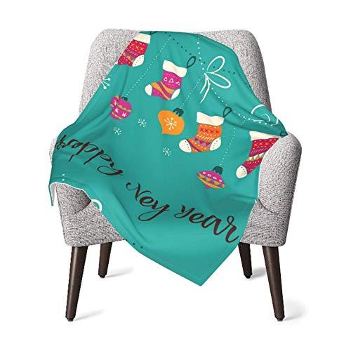 Hdadwy Feliz Navidad calcetines de Navidad Vector Unisex bebé suave manta de felpa Swaddle Wrap manta receptora para bebé o recién nacido