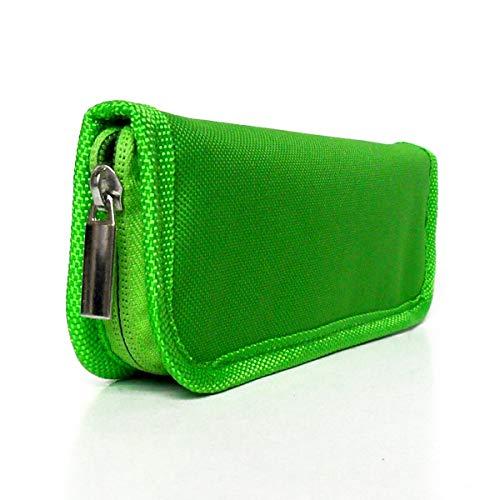 LACKINGONE - Custodia per penna per insulina, da viaggio, per diabetici, con cerniera, colore: Verde
