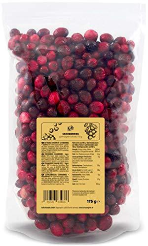 KoRo - Gefriergetrocknete Cranberries 175 g - Schonend getrocknete Cranberries aus 100 % Frucht