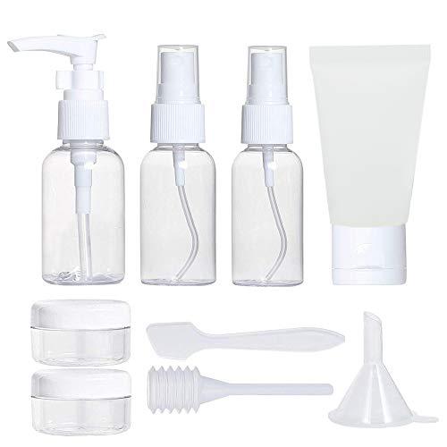 Jackify Reiseflaschen Set, 9 stück Reise Flaschen Set Nachfüllbare Leere Reiseflaschen Kosmetik Container für Shampoo, Air Travel Zubehöreme