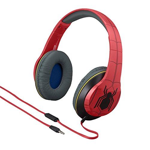 eKids Marvel Spiderman Casque Audio avec Microphone intégré Rouge