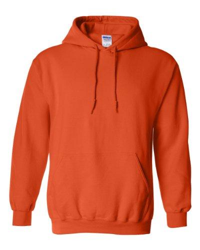 Gildan Men's Heavy Blend Hooded Sweatshirt Orange XL Idaho