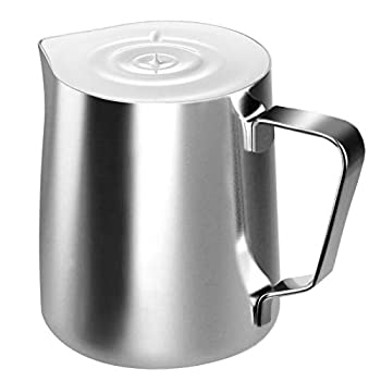 Stainless Steel Milk Frothing Pitcher Cappuccino Pitcher Pouring Jug Espresso Cup Creamer Cup for Latte Art 12 Ounce  350 ML