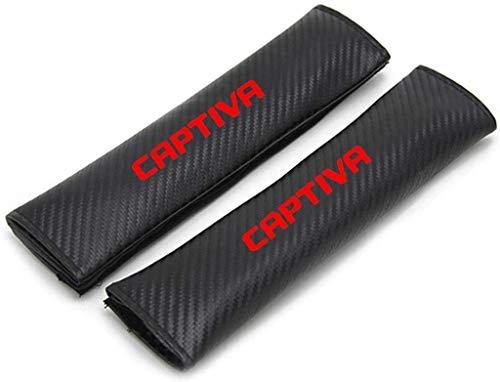 2 Piezas Almohadillas de La Cubierta del Hombro del CinturóN de Seguridad, para Chevrolet Captiva All Models, Cómoda Transpirable Auto Interior Accesorios