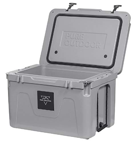 Monoprice Emperor Cooler - 25 Liters - Gray   Securely Sealed, Ideal for The Hottest and Coldest Conditions - Pure Outdoor Collection