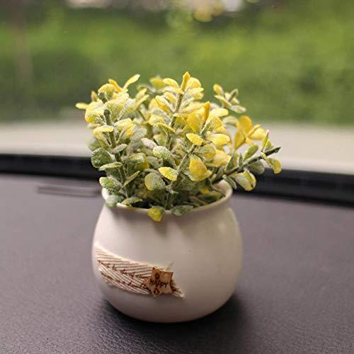 LIANLI Green Plant Plant Simulation Coche Ornamentos Preciosos Crisantemo Rosa Lavanda decoración de Coches (Color Name : K)