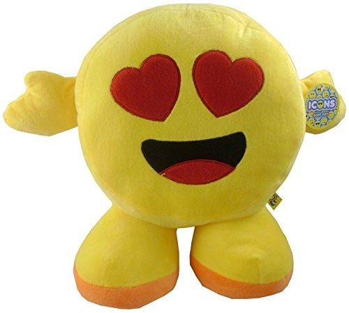 TOYLAND Peluche de Iconos de 13 Pulgadas - Emoji Plush - Diseños Surtidos (Amor)