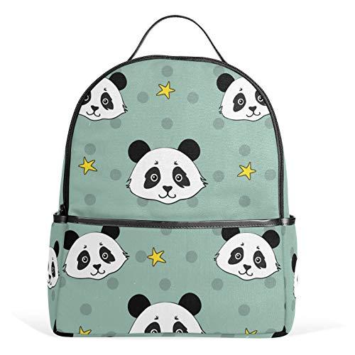JinDoDo - Zaino per la scuola, motivo: panda cinese, stile casual, per ragazze, ragazzi, ragazzi, adolescenti