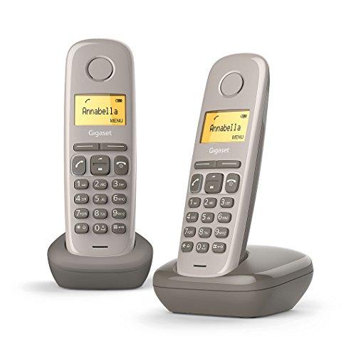 Gigaset A170 Duo Téléphone fixe sans fil DECT/GAP Taupe