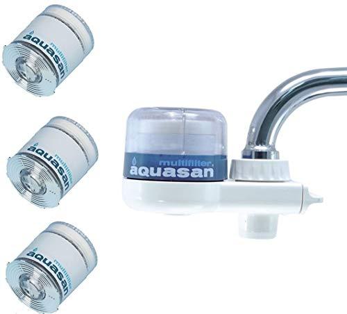 AQUASAN WATER FILTER COMPACT MODELL + 3 CARTRIDGES ERSATZ
