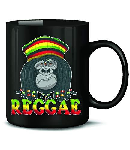 Reggae Gorilla 4816 Tasse Becher Kaffeetasse Kaffeebecher mit Spruch Gras Cannabis Drogen Sprüche Geschenk Artikel Marihuana Drug Dope Kiffer