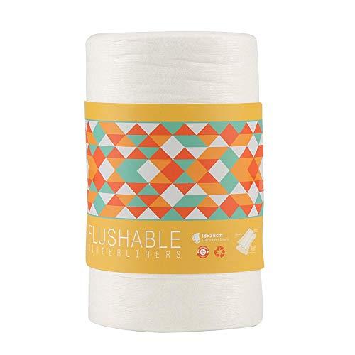 Pañales desechables para bebés Forros para pañales biodegradables y desechables St, 100 piezas/rollo forro para pañales forros para pañales accesorios para pañales de tela