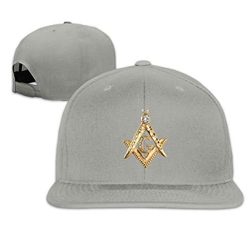 Masonic Symbol Unisex Herrenmütze Sportkappe Hip-Hop-Kappe Verstellbare Flache Herren-Baseballmütze Sonnenmütze für Erwachsene
