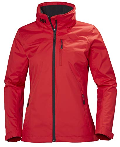 Helly Hansen W Crew Hooded Midlayer Jacket, Giacca Impermeabile Donna, Alert Red, XS