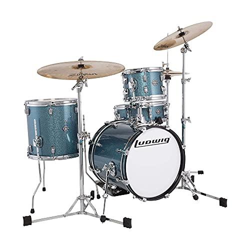 Ludwig Questlove Breakbeats 10/13/16/5x14 4pc. Drum Kit Azure Sparkle