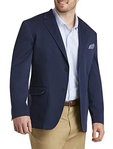 Oak Hill by DXL Big and Tall Stretch Cotton Sport Coat, Navy, 3XL