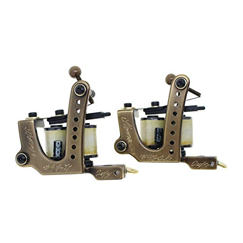 Thomas Coil Brass Tattoo Machine Tattoo Gun Handmade Pack of 2 (Liner&Shader)