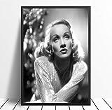 QINGRENJIE Wandkunst Bild Marlene Dietrich Filmstar Kunst