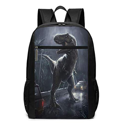 Jurassic Park III - Mochila escolar para niños con caja de almuerzo para lápices, mochila de viaje, mochila informal