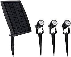Findyouled Solar Garden Lights Outdoor Waterproof Solar Powered Landscape Lights, 3-in-1 Solar Spotlights for Backyard...