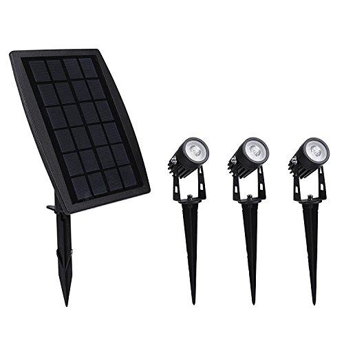 findyouled Solar Spotlights, 2-in-1 Waterproof Outdoor Landscape Lighting Spotlight Wall Light Auto On/Off (Warm White)